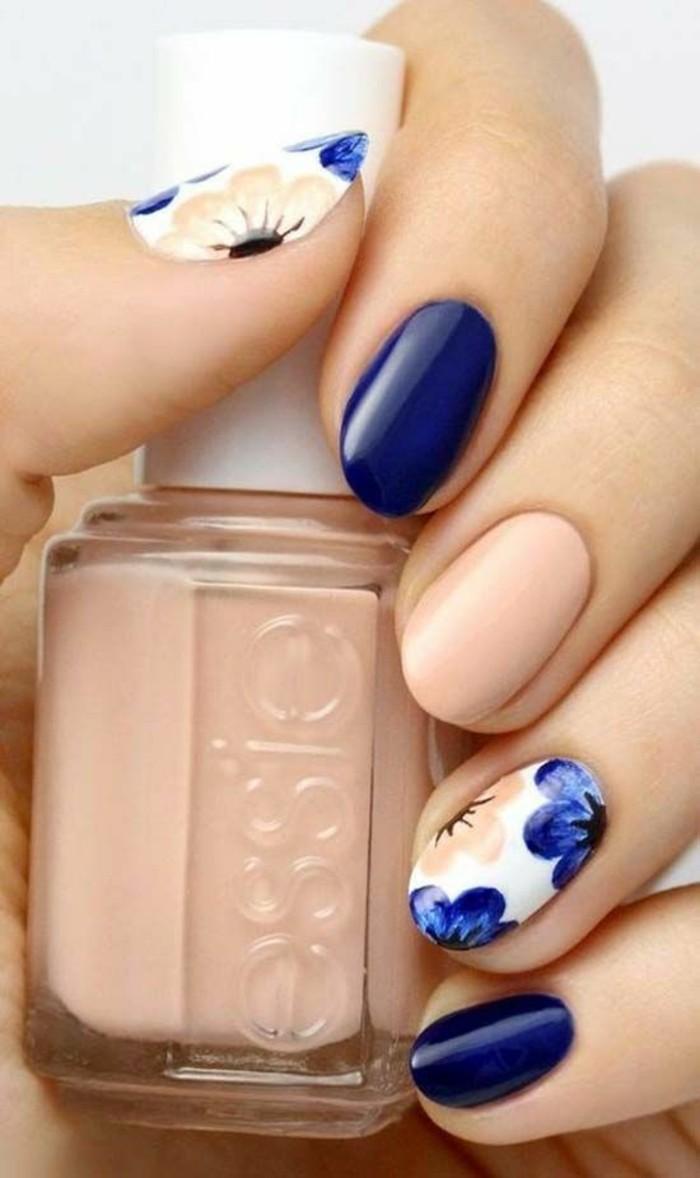 ongle-gel-original-ongle-french-originale-bleu-foncé