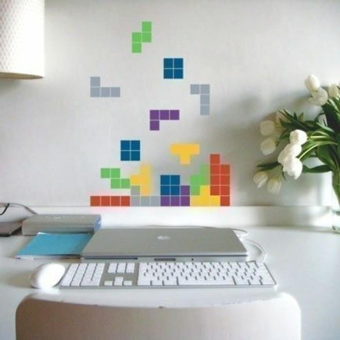 originale-idee-espace-bureau-garcon-decoration-murale-tetris-idee-originale