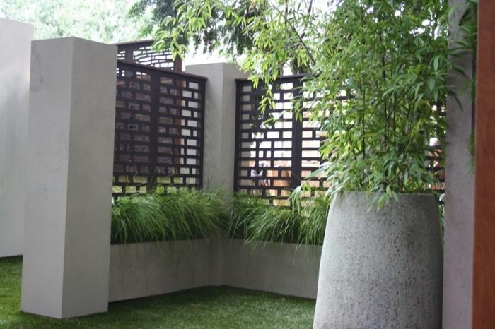 Paravent de jardin plus de 50 id es orginales - Leroy merlin jardiniere bois ...