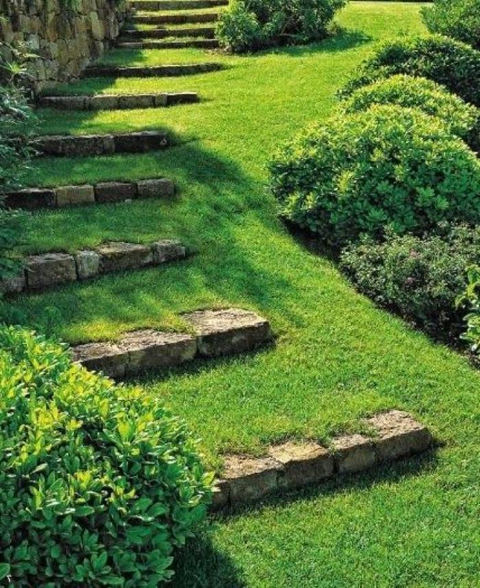pelouse-verte-idee-jardin-gravier-allée-pelouse-verte-allee-idee-originale-pelouse-verte