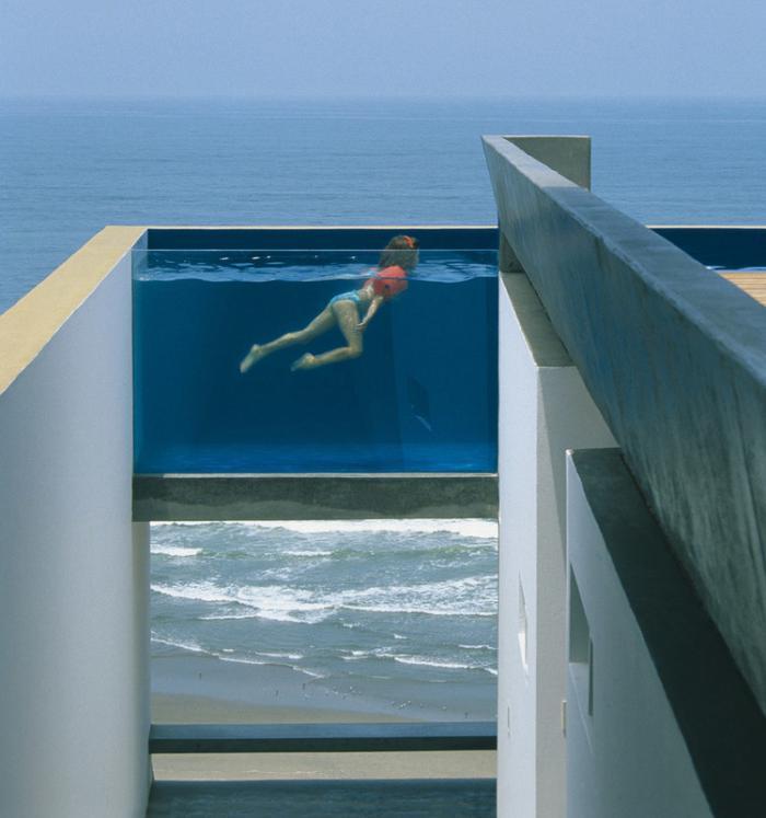La piscine en verre en 43 photos - Verre pile pour filtre piscine ...