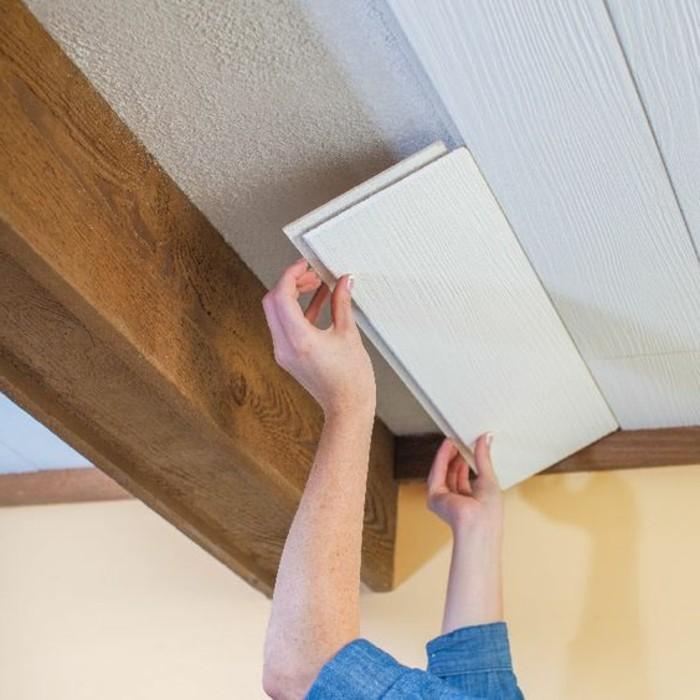 Maison styl e contemporaine l 39 aide de plafond moderne for Plaque polystyrene pour plafond