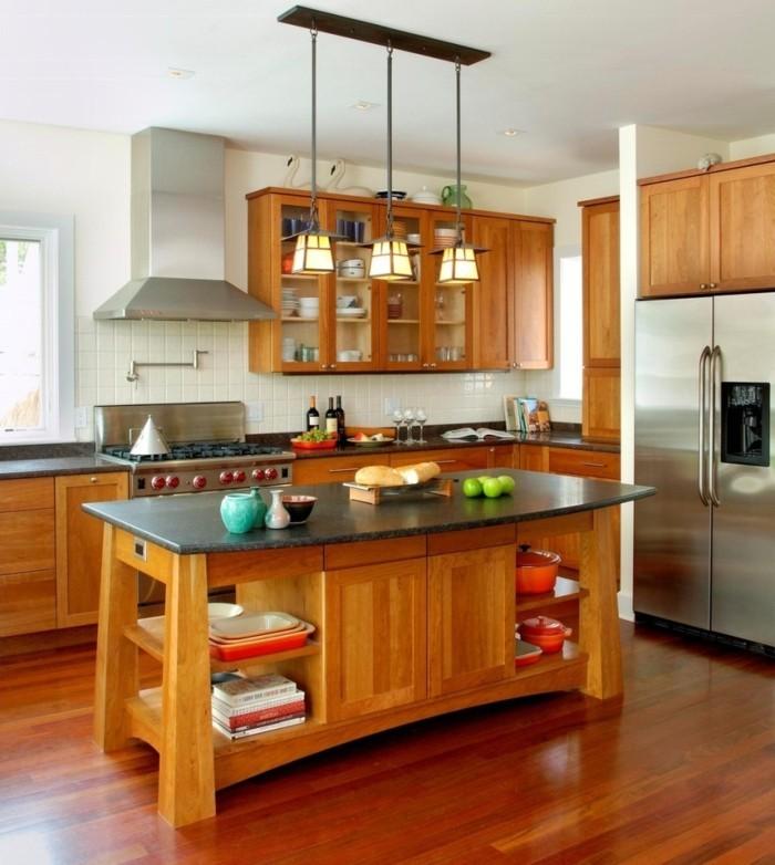 plan-cuisine-americaine-placards-bruns-plancher-en-parquet