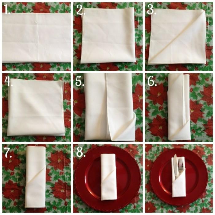 pliage-serviette-facile-couleur-blanche