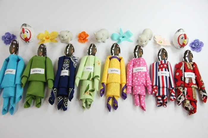 pliage-serviette-figures-humaines