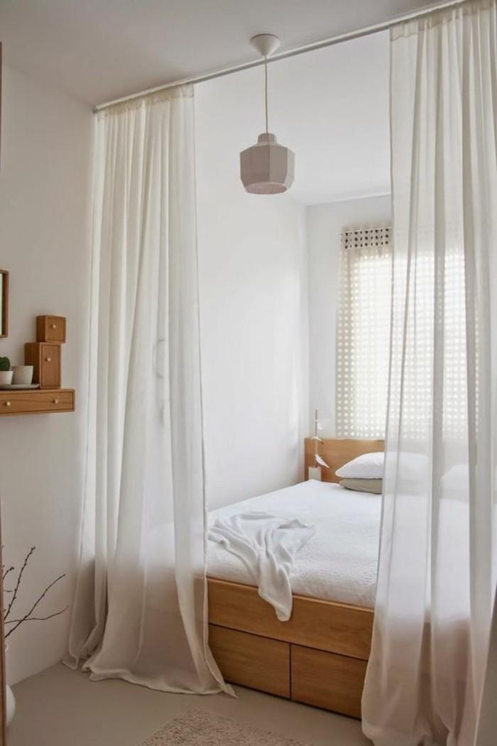 séparateur-de-pièce-ikea-pas-cher-rideau-blanc-pour-séparer-la-pièce-en-deux