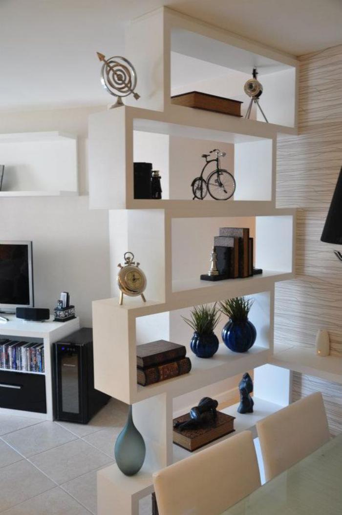 séparation-de-pièce-étagère-design-blanc