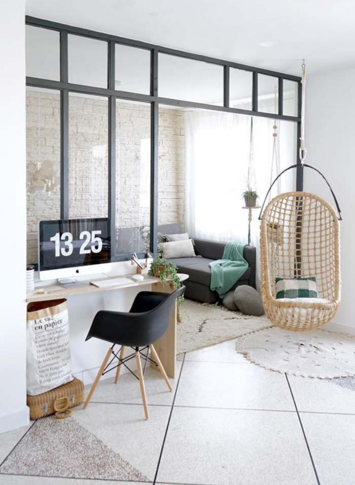 séparation-de-pièce-style-atelier-petit-salon-et-bureau-console