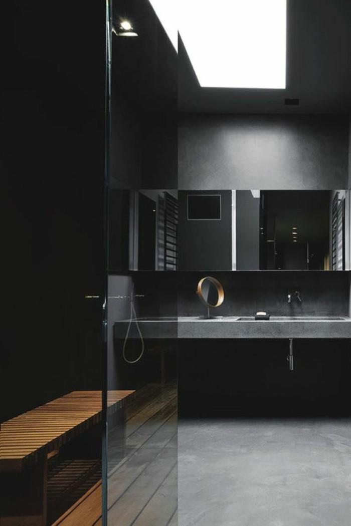 Quelle couleur salle de bain choisir 52 astuces en photos for Beton mural salle de bain