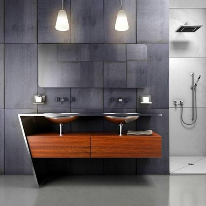 salle de bain avec douche italienne salle de bain gris lustre design - Belle Salle De Bain Italienne