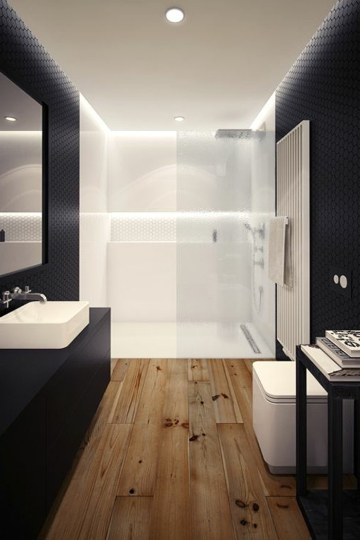 salle de bain sol teck id es de. Black Bedroom Furniture Sets. Home Design Ideas