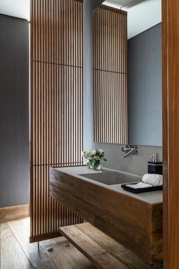 Quelle couleur salle de bain choisir 52 astuces en photos for Bois dans salle de bain