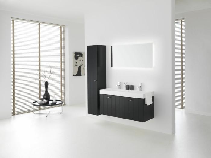 La colonne de salle de bain nos propositions en 58 photos for Meuble salle de bain blanc et noir