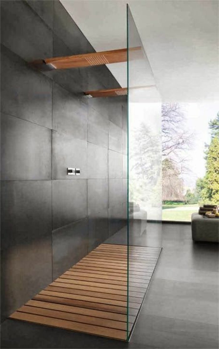 la salle de bain avec douche italienne 53 photos. Black Bedroom Furniture Sets. Home Design Ideas