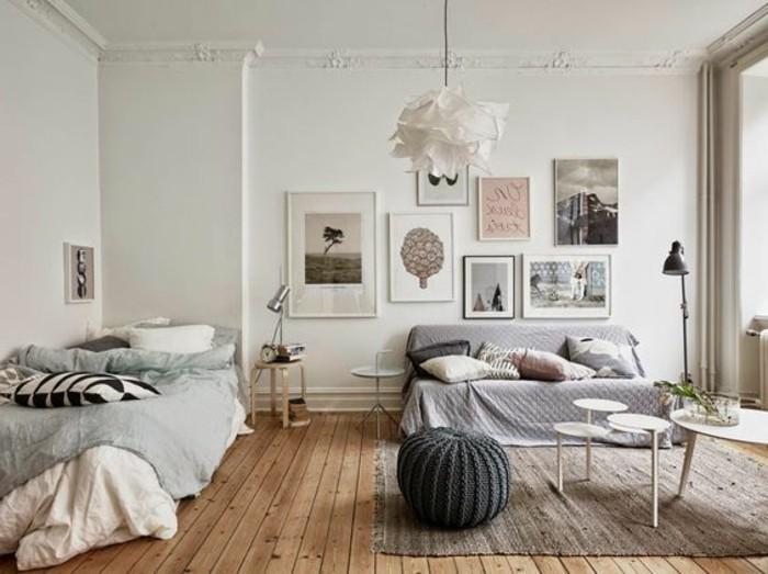 Meubler un studio 20m2 voyez les meilleures id es en 50 - Idee separation chambre salon ...