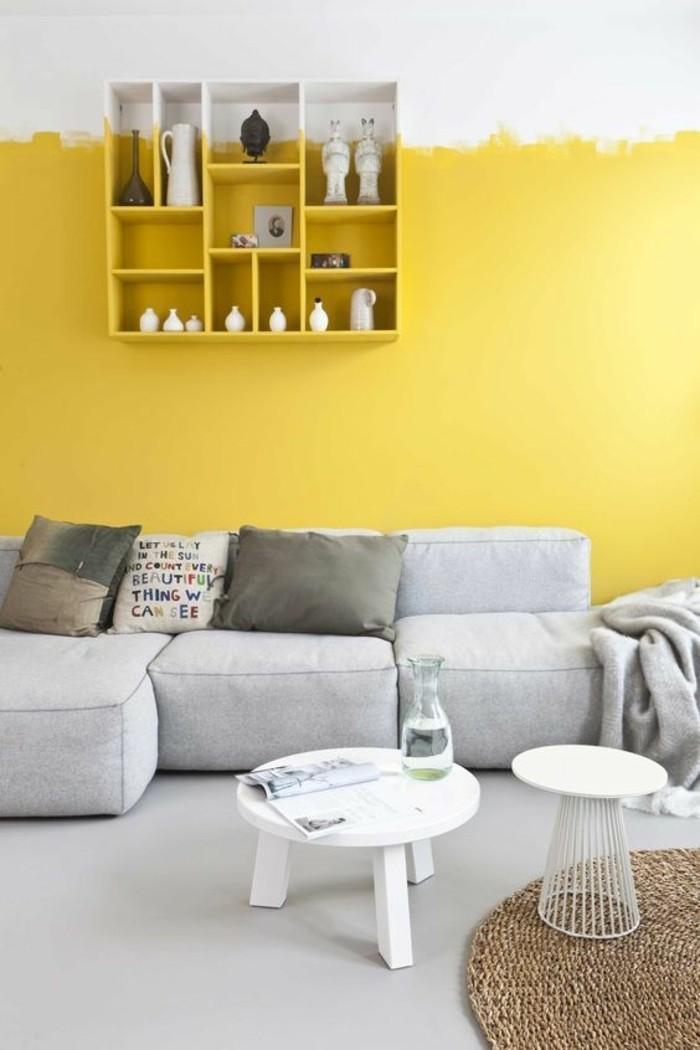 56 id es comment d corer son appartement - Salon mur jaune ...