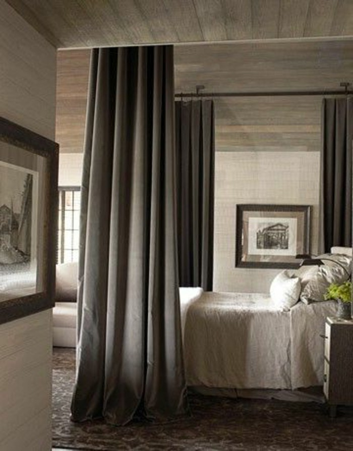 dressing avec rideaux maison design. Black Bedroom Furniture Sets. Home Design Ideas