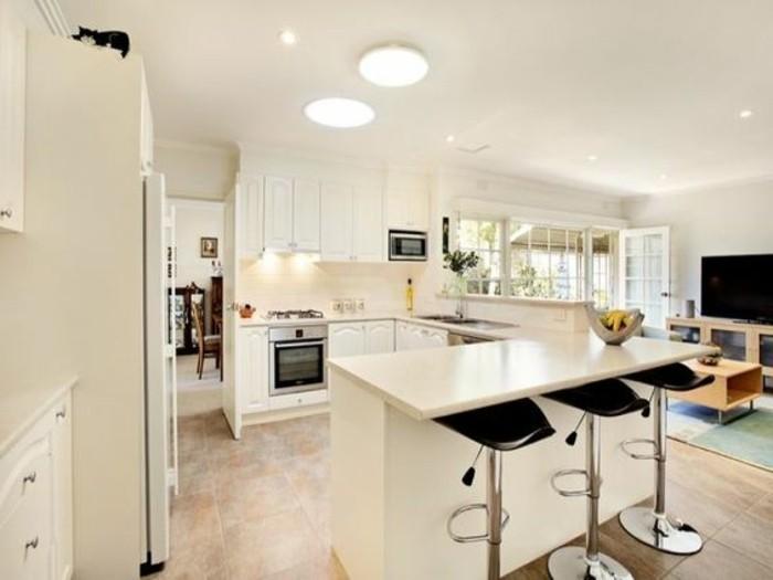 ... bar-de-cuisine-blanche-chaises-hautes-de-cuisine-bar-de-cuisine-blanc