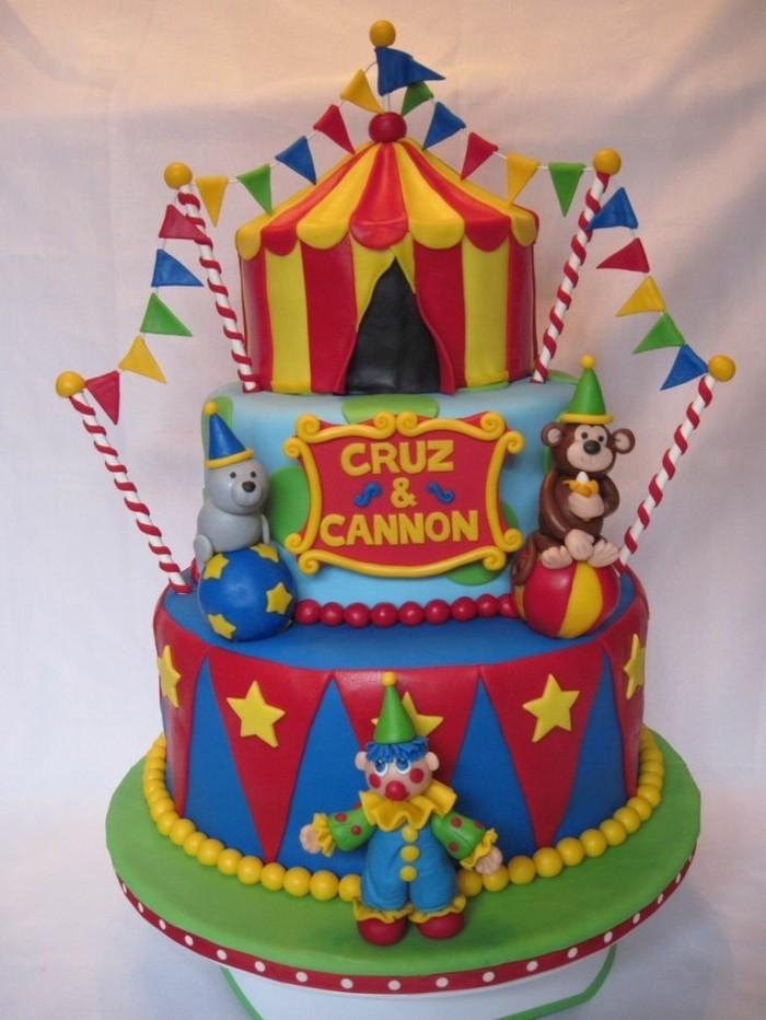 superbe-gateau-anniversaire-garcon-idée-circus