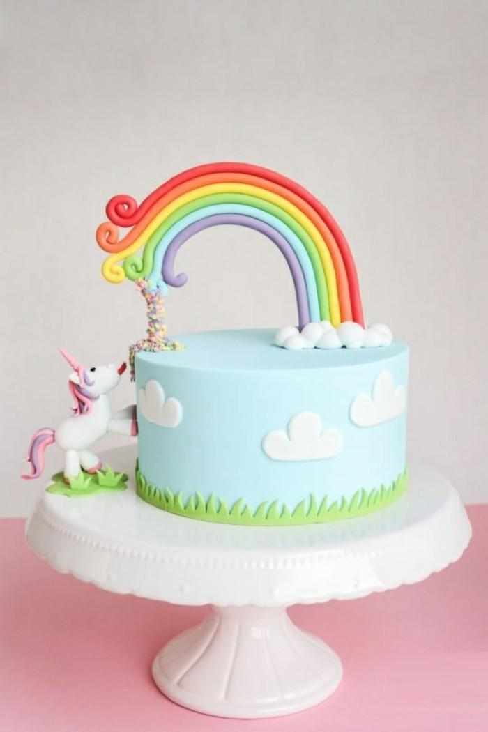 superbe-gateau-anniversaire-garcon-idée-unicorn