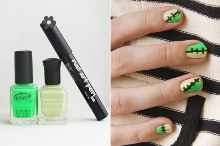 beautiful-pattern-for-nail-nails-drawing-green