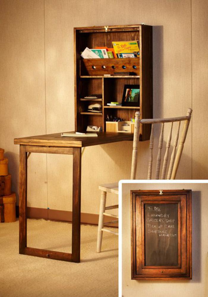 63 Mod232les originaux de table gain de place : table gain de place bureau mural rabattable from archzine.fr size 700 x 996 jpeg 77kB