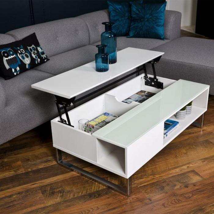 Simple table basse gain de place table basse gain de place for Table pliante gain de place