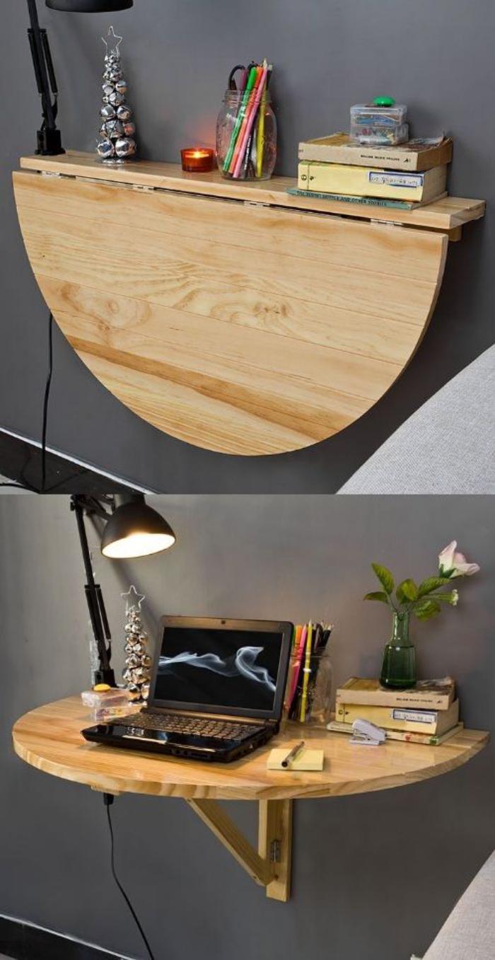 Table Rabattable Petit Espace 63 modèles originaux de table gain de place! - archzine.fr