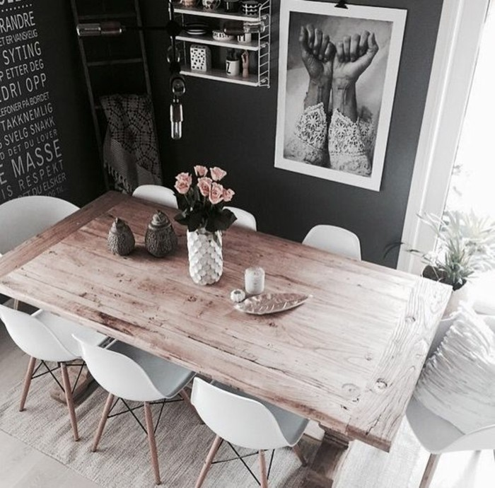 table a manger industrielle pas cher maison design. Black Bedroom Furniture Sets. Home Design Ideas