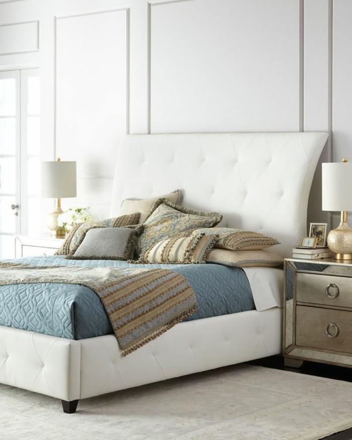 chambre a coucher cuir blanc. Black Bedroom Furniture Sets. Home Design Ideas