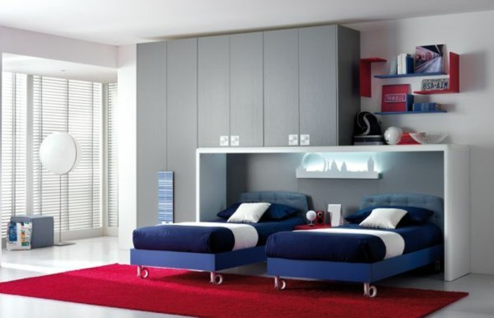 chambre ado garcon gris et rouge pr l vement d 39 chantillons et une bonne id e de. Black Bedroom Furniture Sets. Home Design Ideas