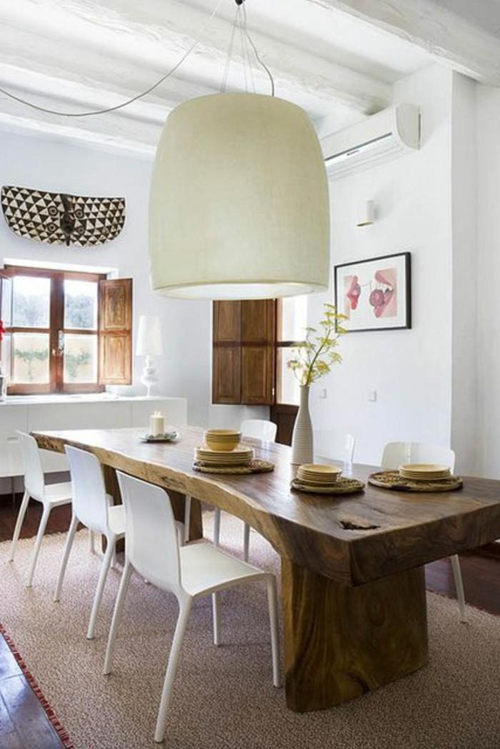 Quelle d co salle manger choisir id es en 64 photos - Proteger une table en bois brut ...