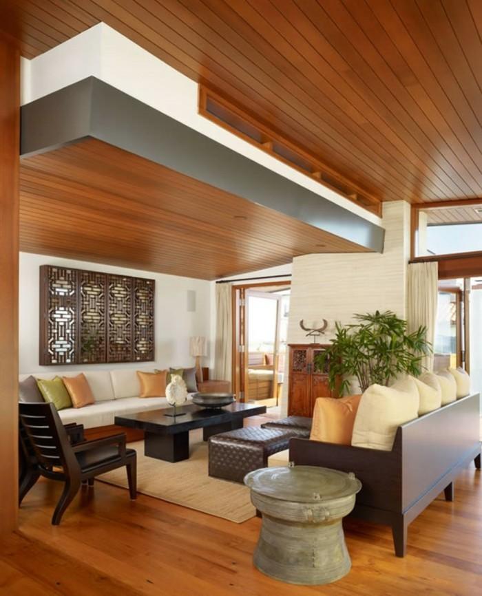 Maison stylée contemporaine à l'aide de plafond moderne   archzine.fr