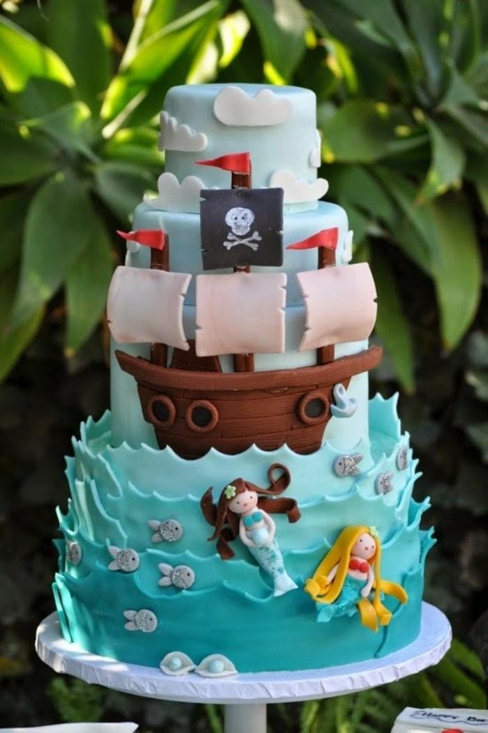 vos-gateaux-anniversaire-enfants-à-faire-soi-meme-pirates