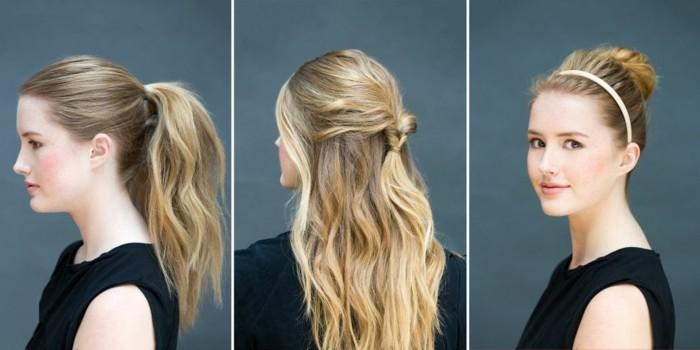 Quelle coiffure facile cheveux long vous va et ment la réaliser 67 idées