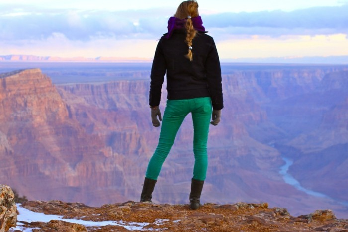 woman at grand canyon national park