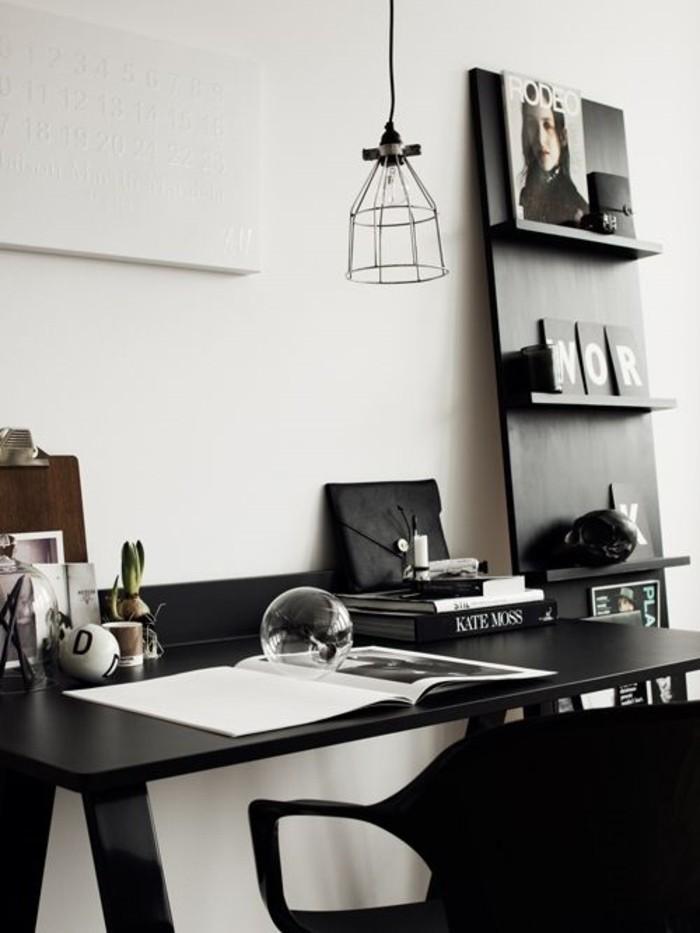 0-art-bureau-rangement-intérieur-minimaliste-bureau-noir-lampe-de-bureau-design-suspendu