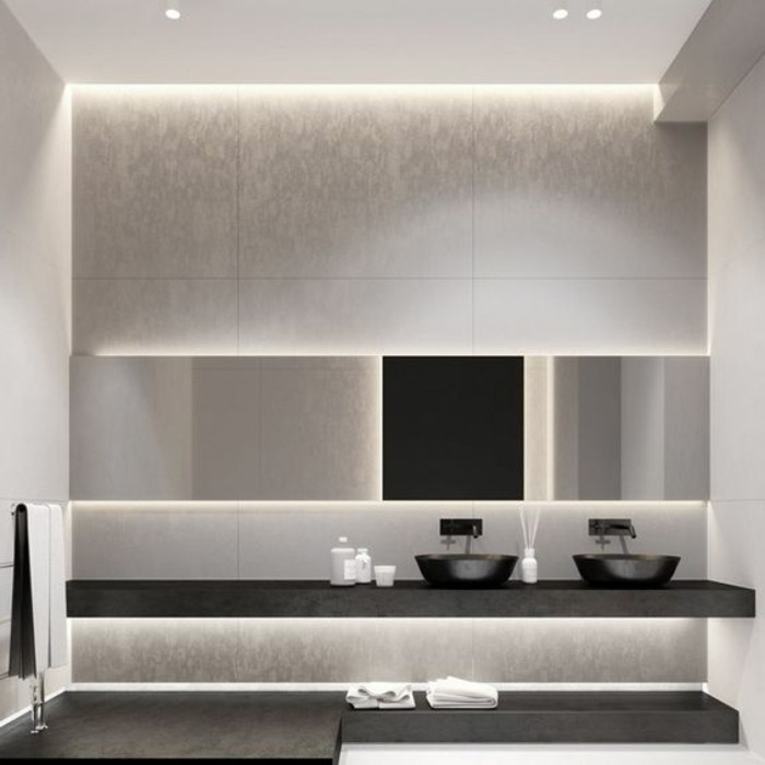 luminaire salle de bain pas cher maison design. Black Bedroom Furniture Sets. Home Design Ideas
