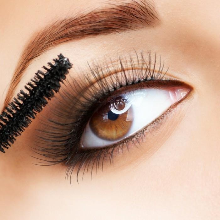 0-maquillage-pour-yeux-marron-smokey-eyes-marron-maquillage-paupiere-marron
