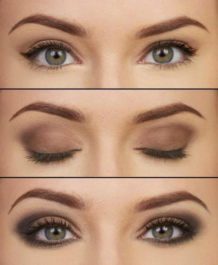 Le maquillage pour yeux marron 51 id es en photos et vid os - Faire couleur marron ...