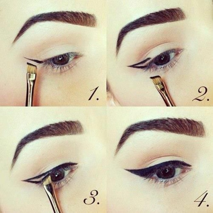 00-maquillage-yeux-en-amande-maquillage-rockabilly-idees-tuto-maquillage-yeux-marrons