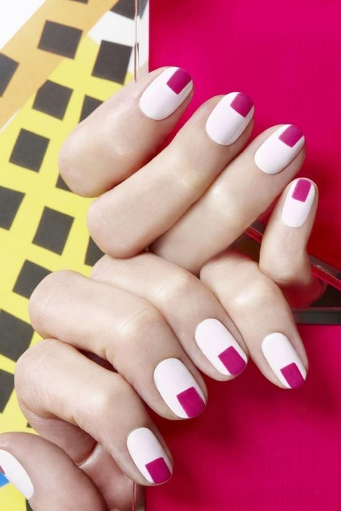 000-deco-ongle-facile-manucure-french-en-blanc-et-violette-les-meilleures-idees-deco-ongles