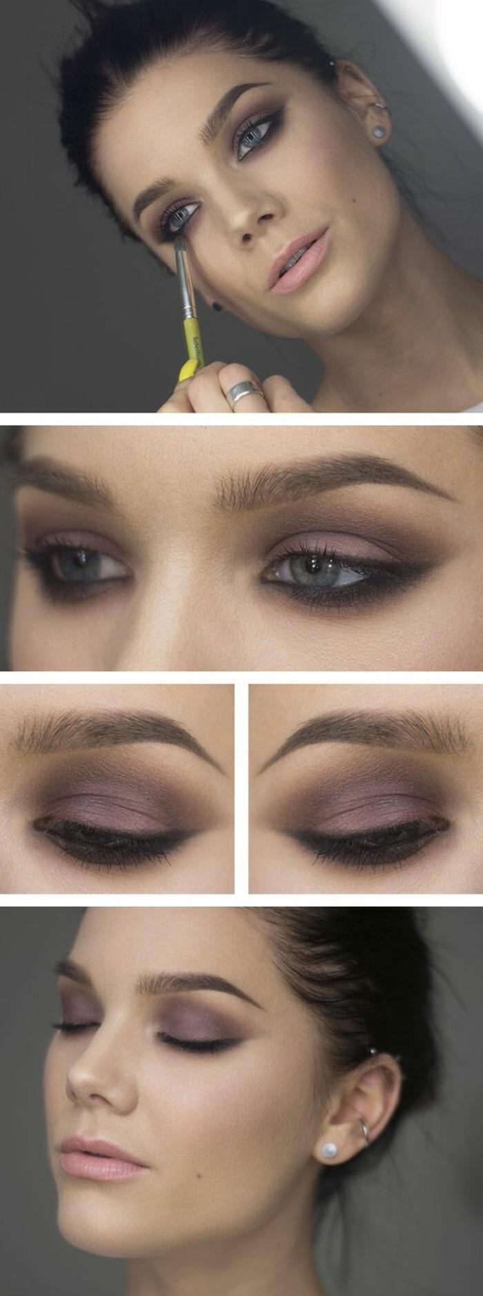 000-maquillage-smokey-eye-tuto-maquillage-yeux-bleus-maquillage-année-60