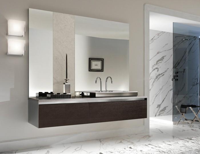 02-Salle de bain italienne en noir et blanc