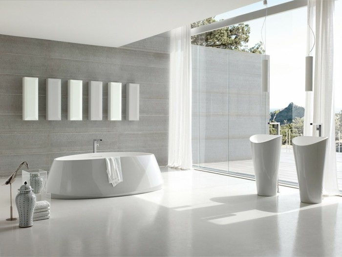 Salle de bain italienne plus de 60 propositions en photos for Design salle de bain italienne
