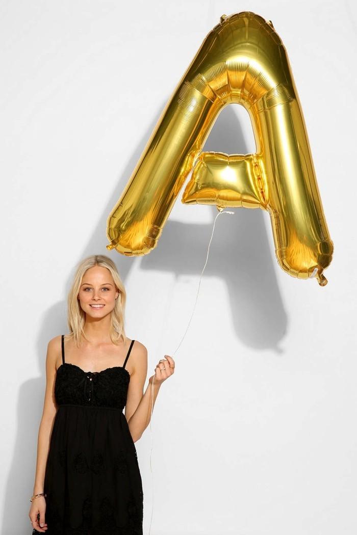 04-decoration avec des ballons - la lettre A