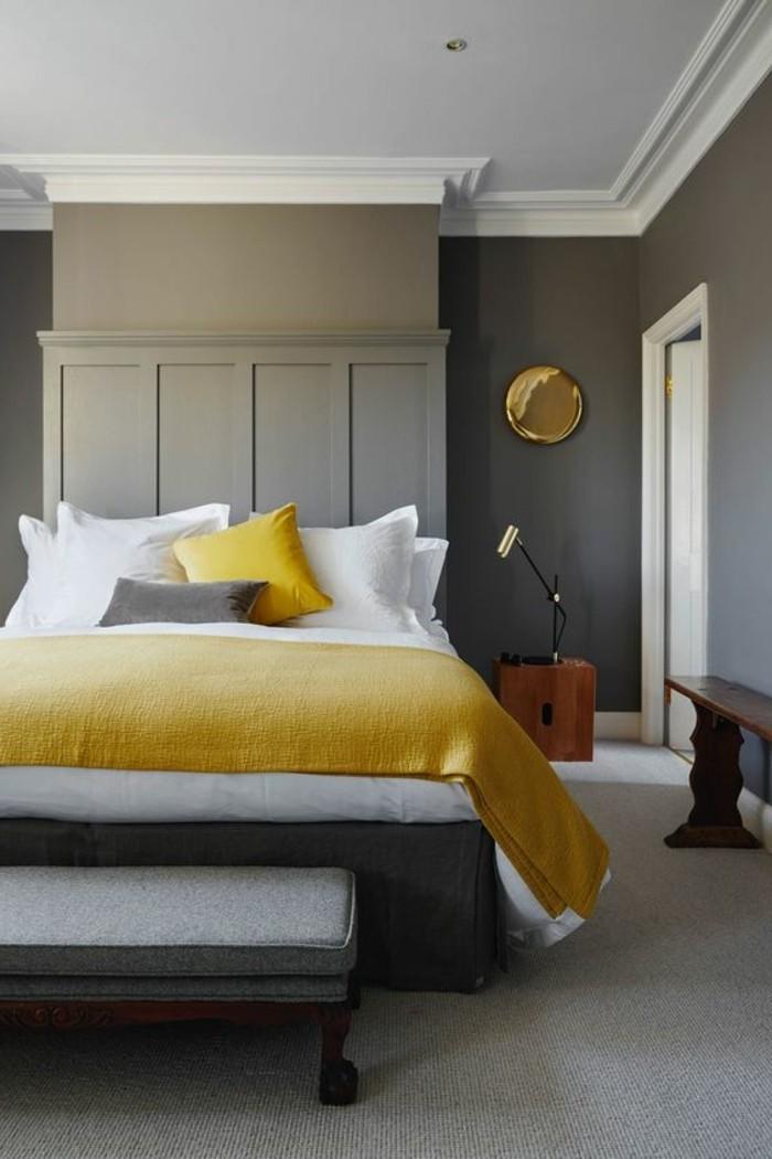 Avec quelle couleur associer le gris plus de 40 exemples - Chambre jaune blanc ...