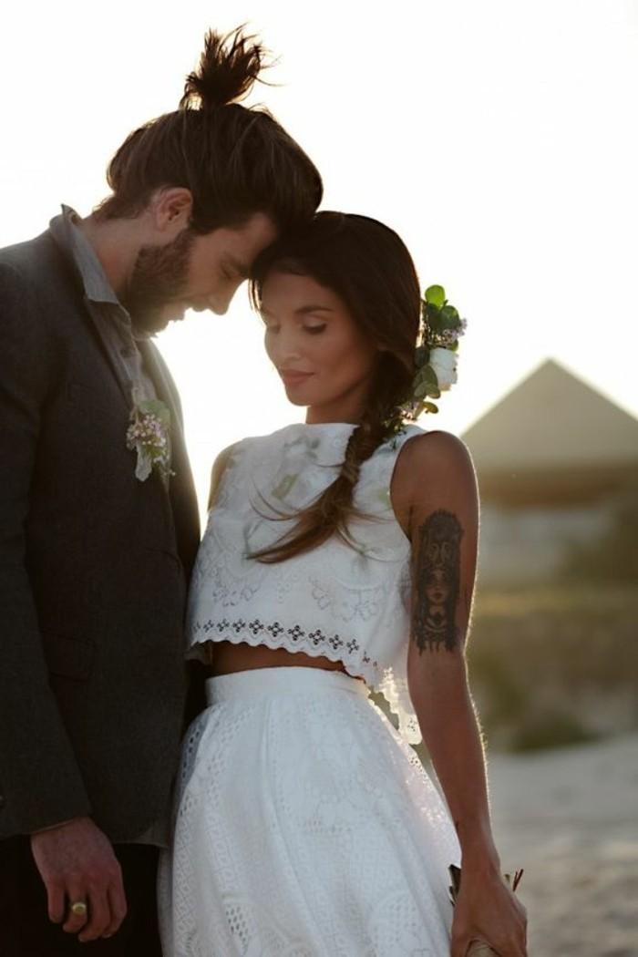 Robe de mariage civil en 60 images tendances 2016 2017 for Robes blanches pour les mariages