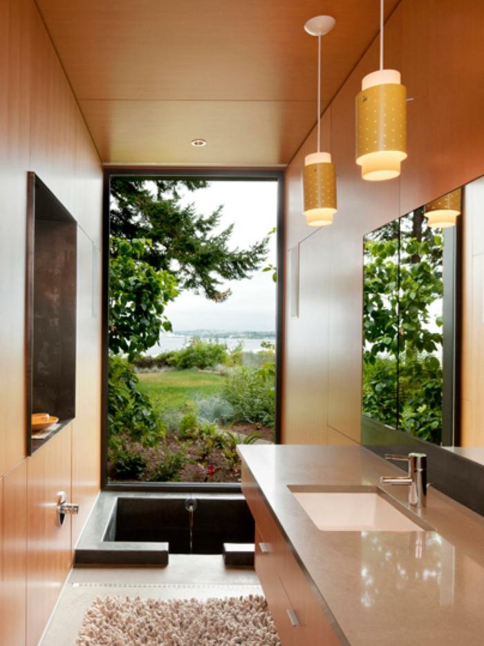 La d co salle de bain en 67 photos magnifiques for Ambiance salle de bain sans fenetre