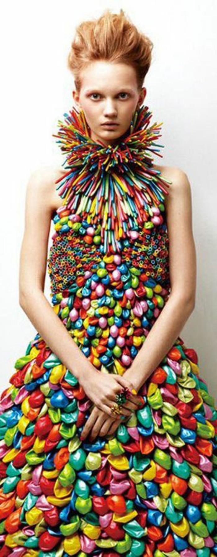 10-decoration avec des ballons en forme de robe